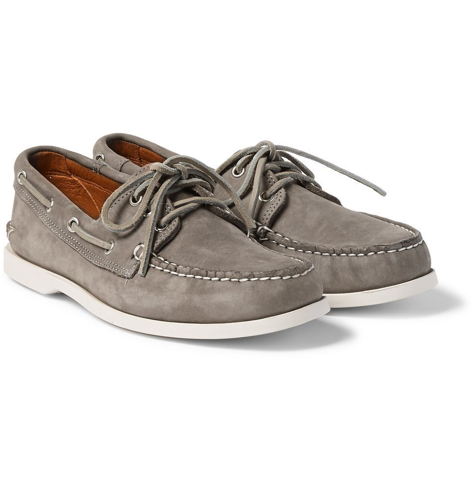 Photo: Quoddy - Downeast Nubuck Boat Shoes - Gray