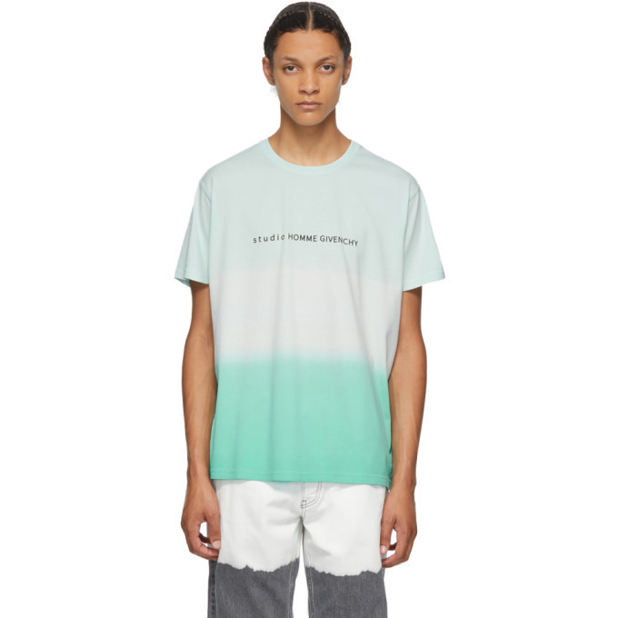 Photo: Givenchy Green Faded Effect Studio Homme T-Shirt
