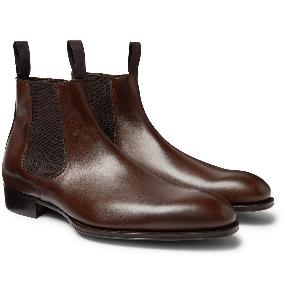 Photo: Kingsman - George Cleverley Leather Chelsea Boots - Brown