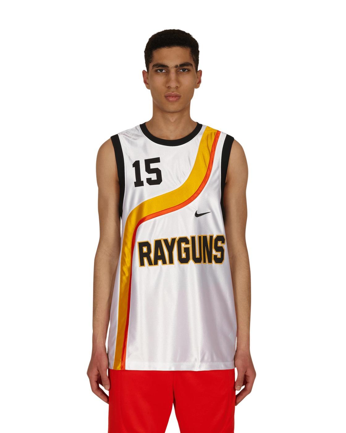 Photo: Nike Jordan Rayguns Jersey White/University Gold