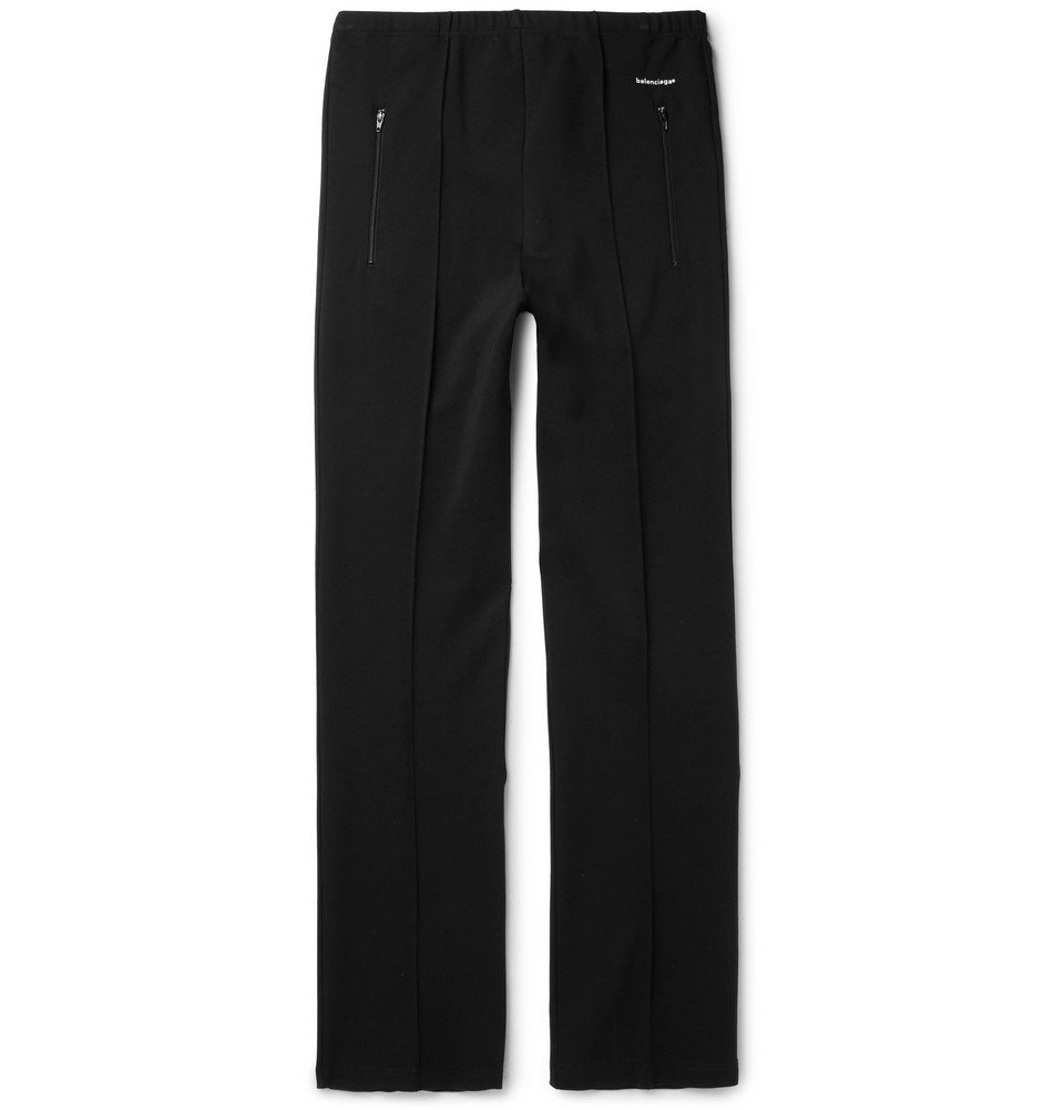 Photo: Balenciaga - Slim-Fit Stretch-Jersey Sweatpants - Black