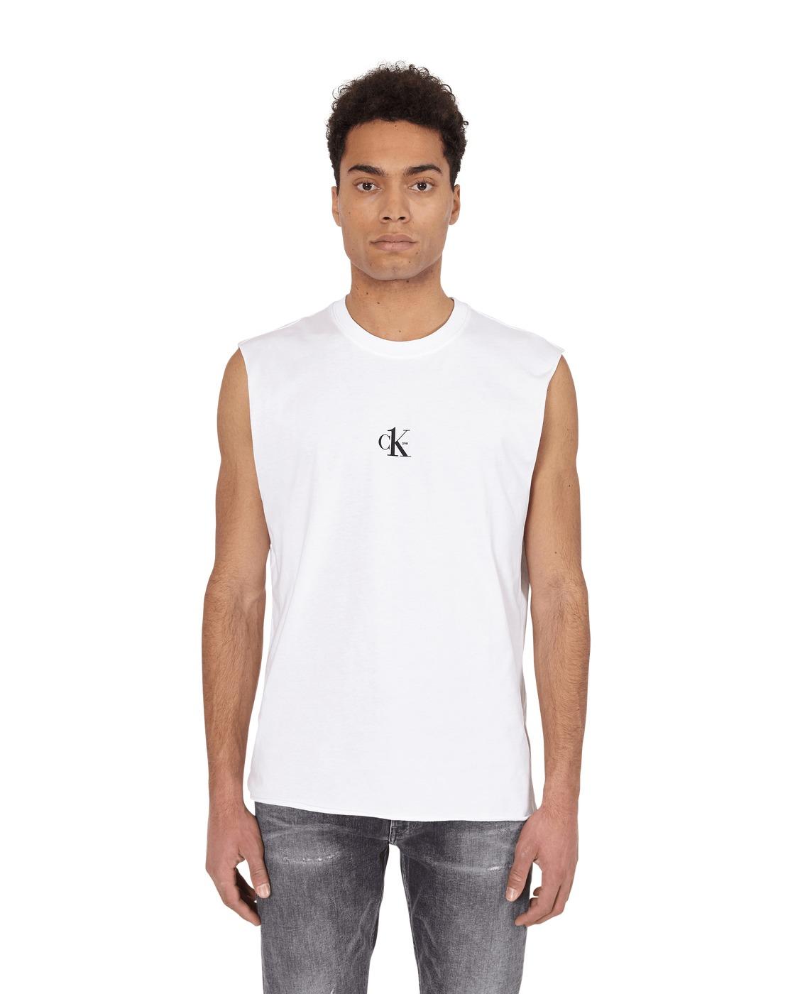 Photo: Calvin Klein Jeans Small Logo Tank Top Bright White