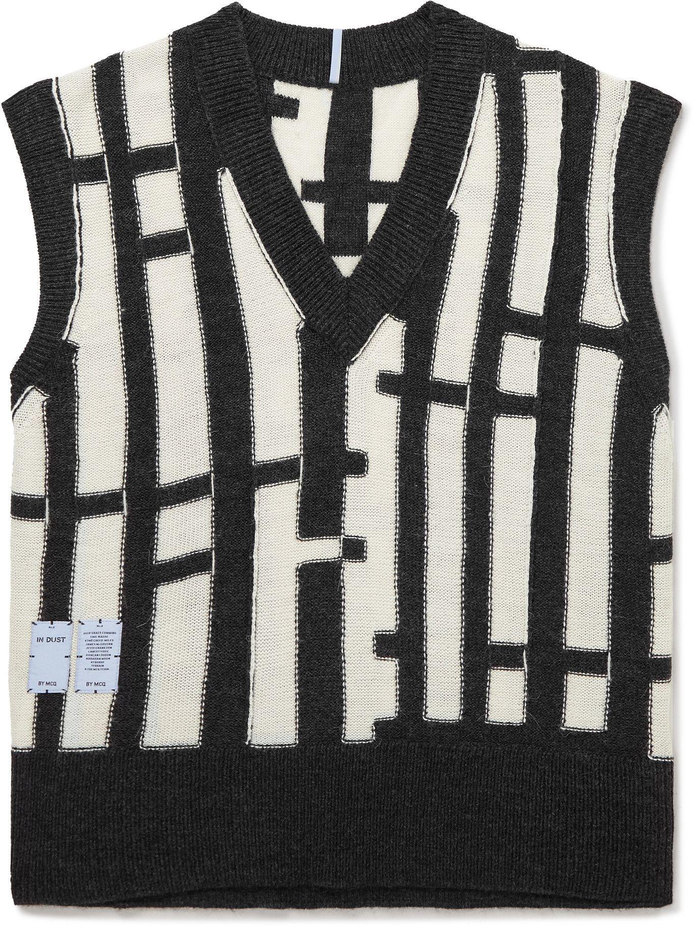Photo: MCQ - Intarsia-Knit Sweater Vest - Black