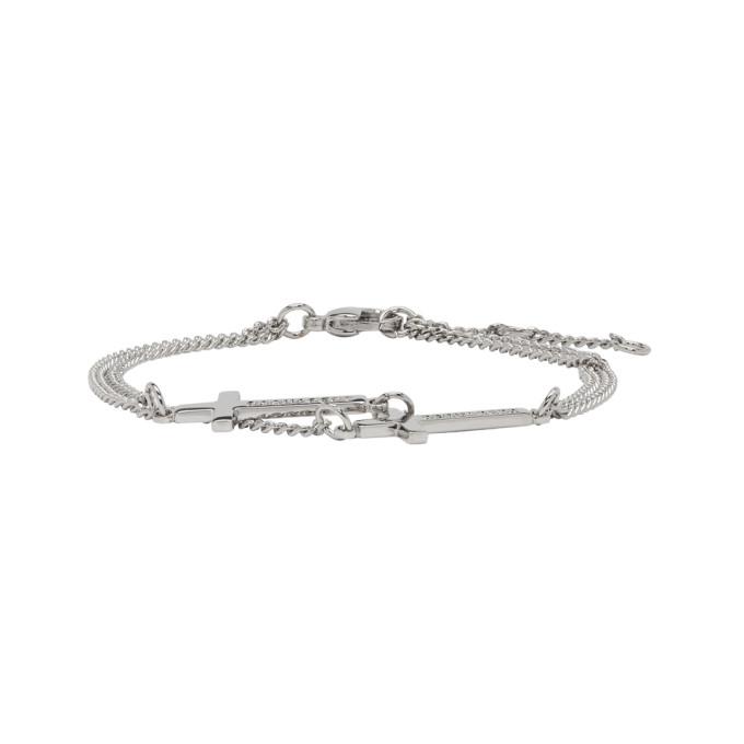 Photo: Dsquared2 Silver Double Cross Bracelet