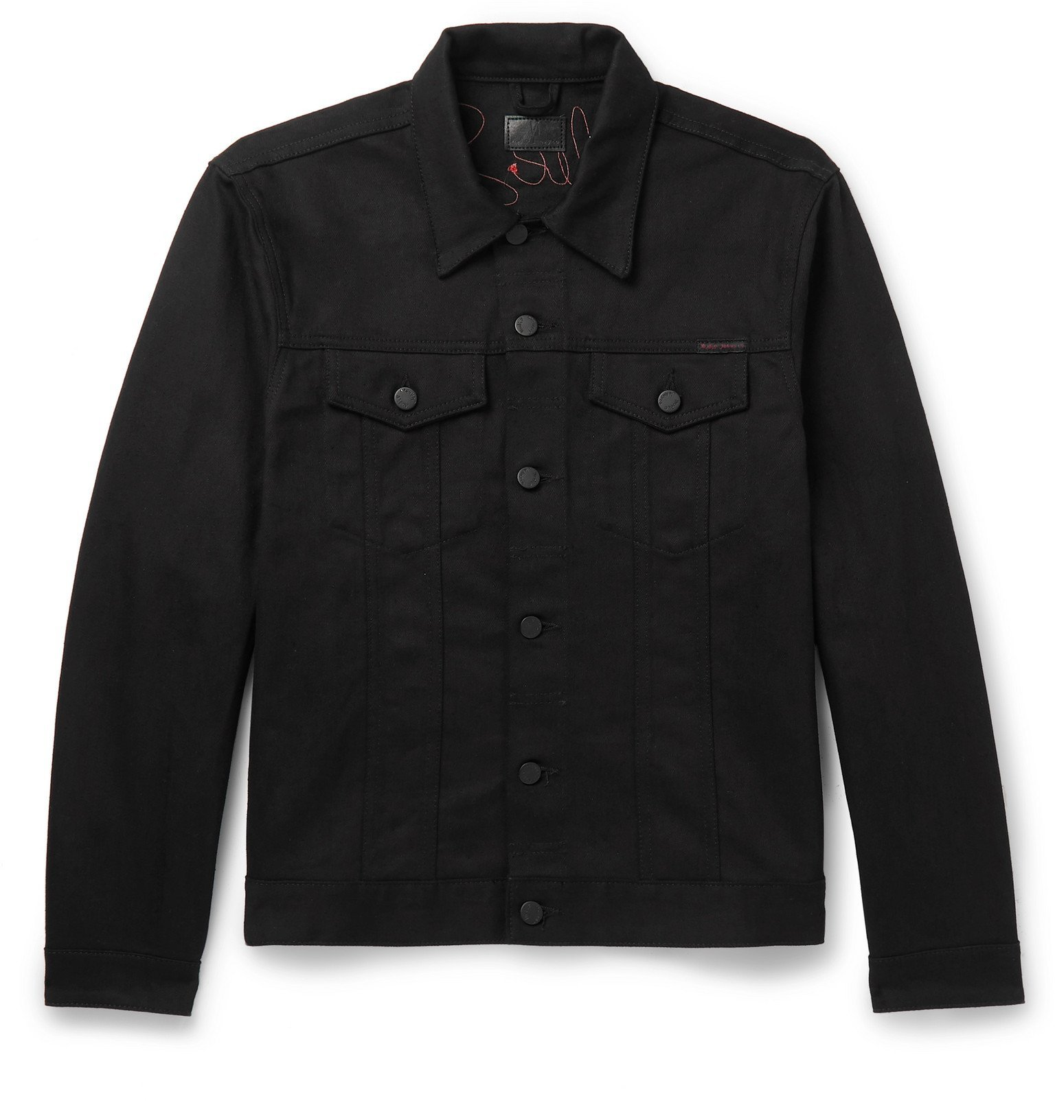 Photo: Nudie Jeans - Limited Edition Jerry Embroidered Organic Denim Jacket - Black