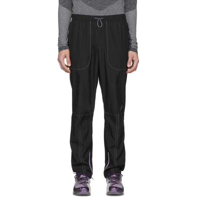 Photo: Kiko Kostadinov Black Asics Edition Woven Track Pants