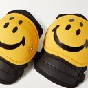 KAPITAL - Rain Smiley Printed Knee Pads - Yellow
