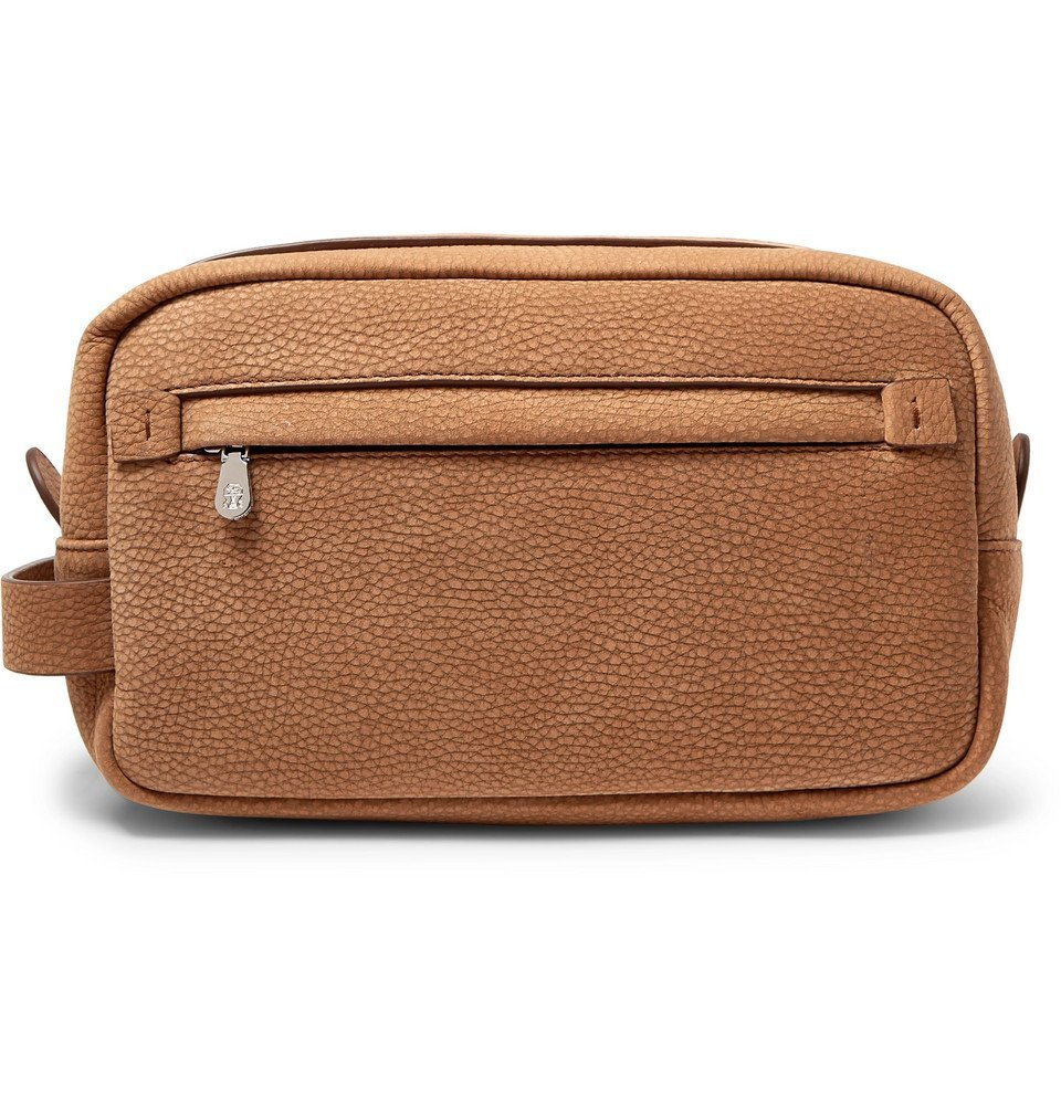 Photo: Brunello Cucinelli - Full-Grain Nubuck Wash Bag - Brown