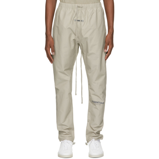 Photo: Essentials Beige Logo Track Pants