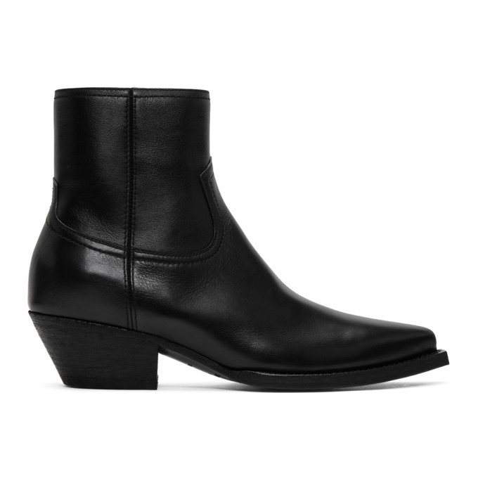 Photo: Saint Laurent Black Lukas Zip Boots