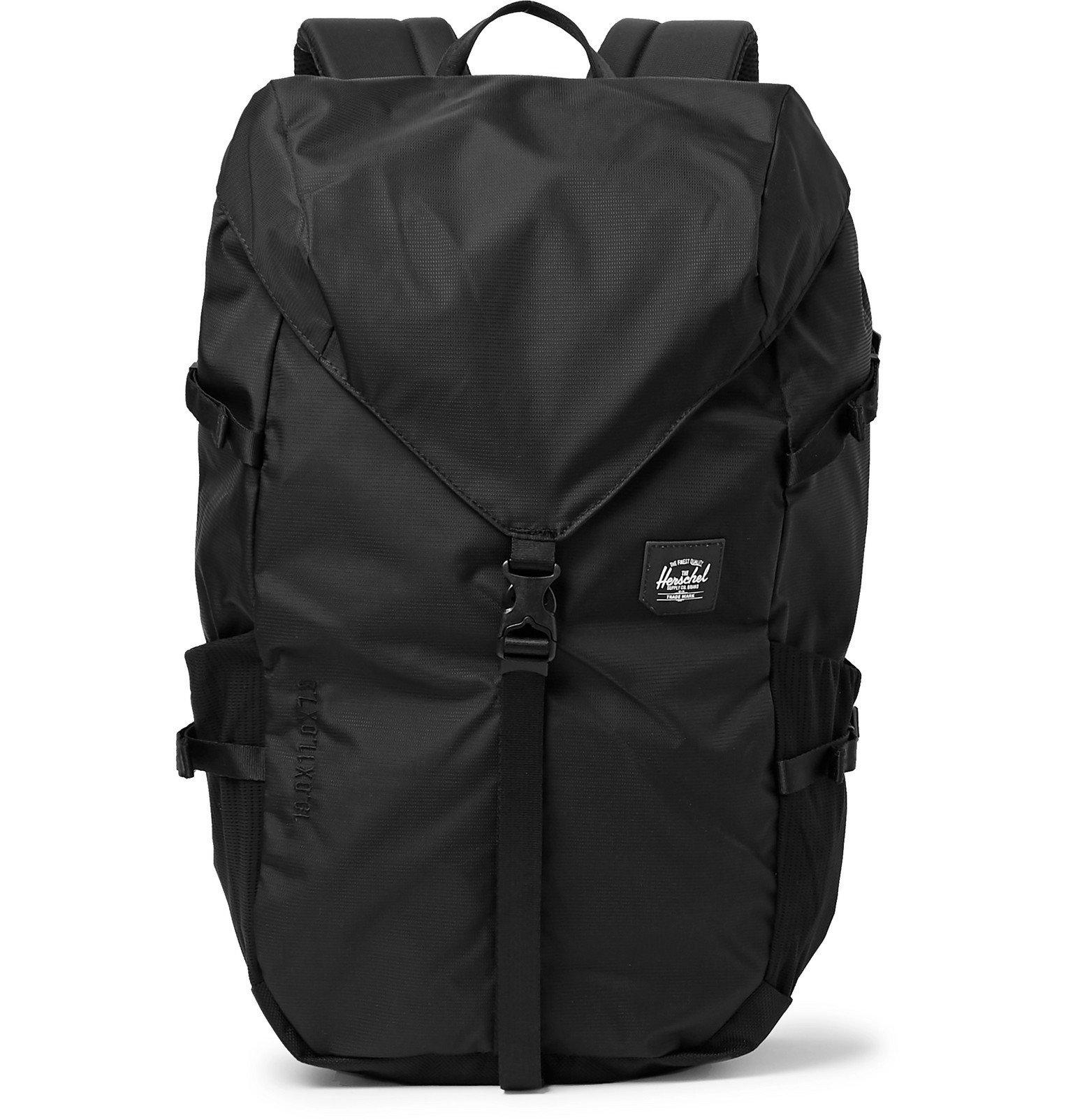 Photo: Herschel Supply Co - Barrow Large 210D Nailhead Dobby-Nylon Backpack - Black