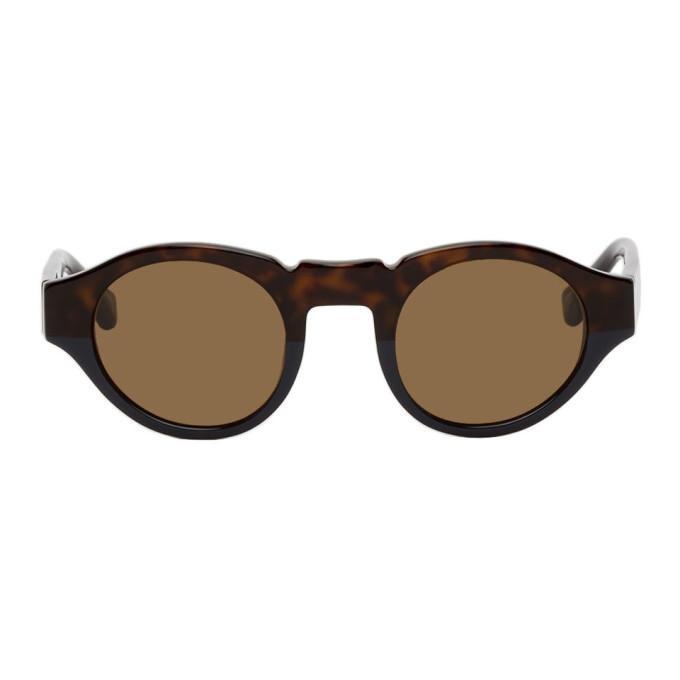 Photo: Dries Van Noten Tortoiseshell Linda Farrow Edition 62 C2 Sunglasses