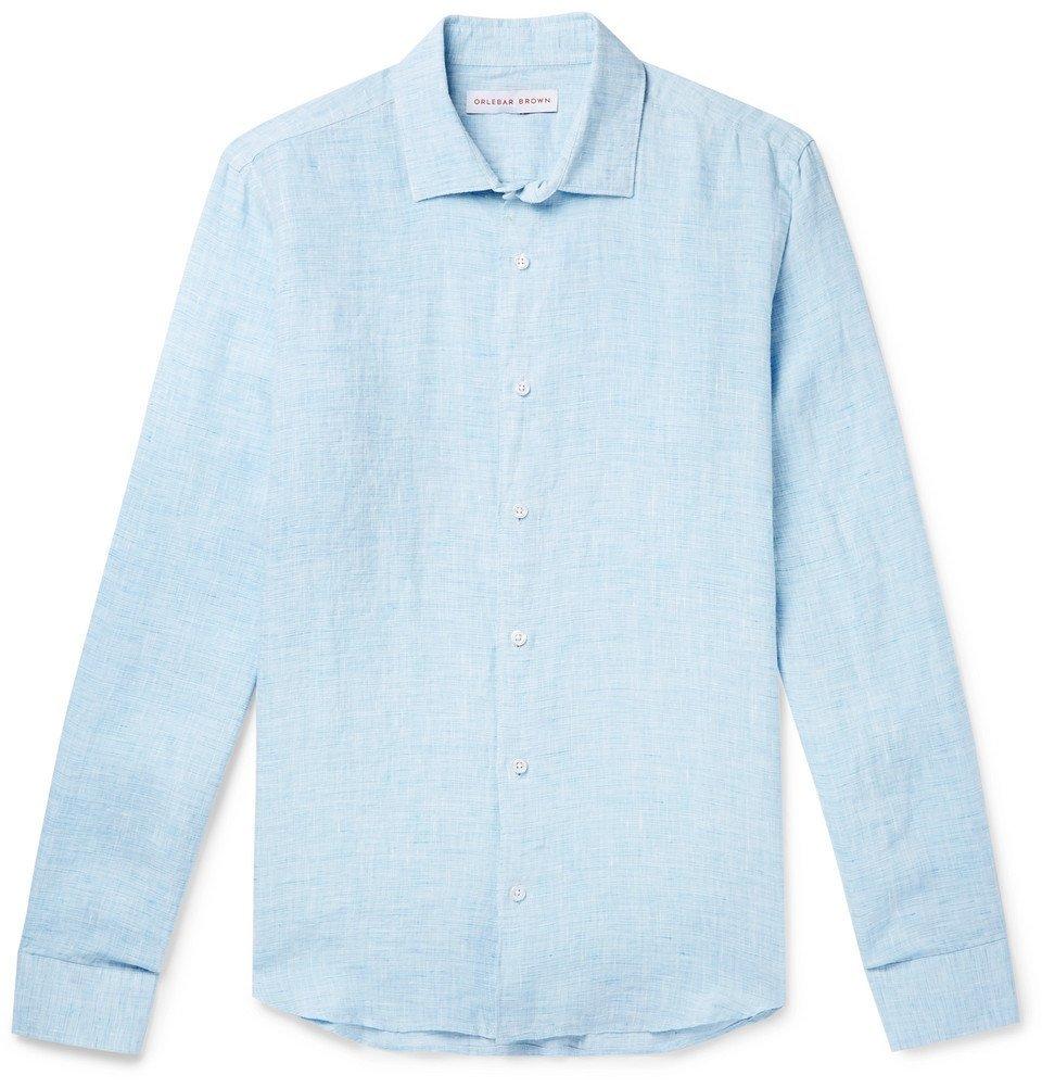 Photo: Orlebar Brown - Linen Shirt - Blue