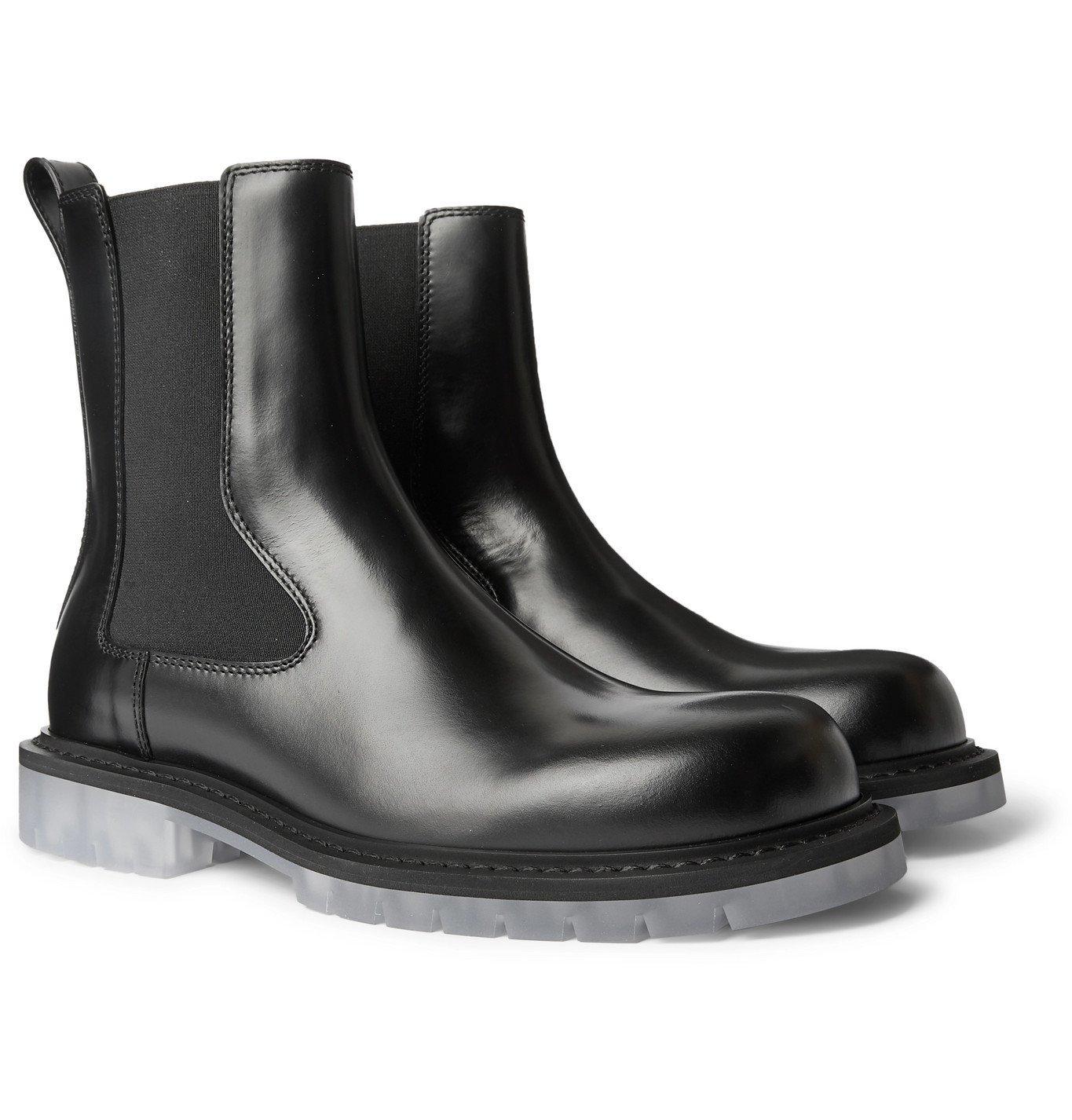 Photo: Bottega Veneta - Leather Chelsea Boots - Black