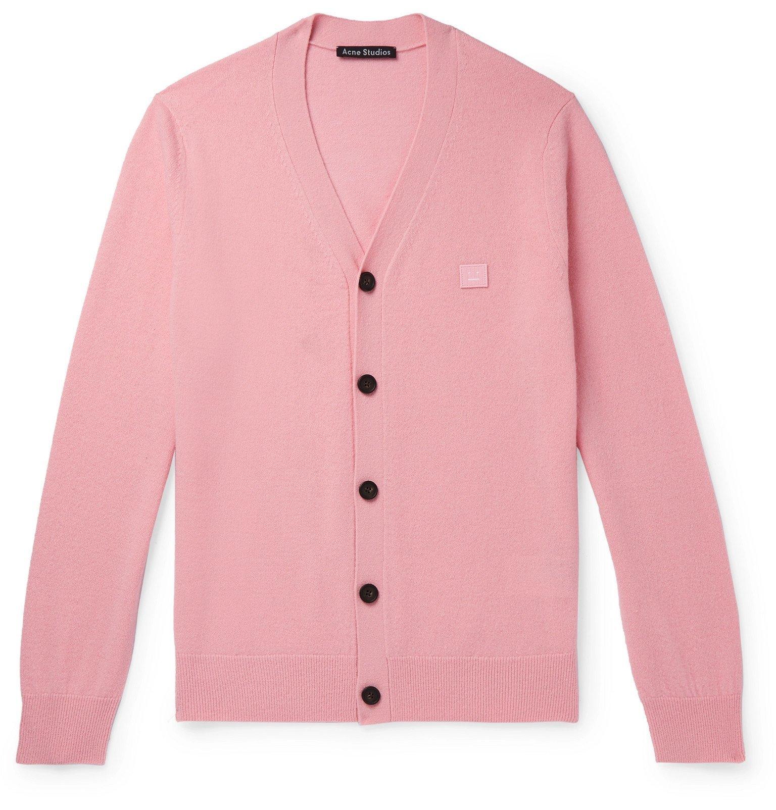 Photo: Acne Studios - Keve Logo-Appliquéd Wool Cardigan - Pink