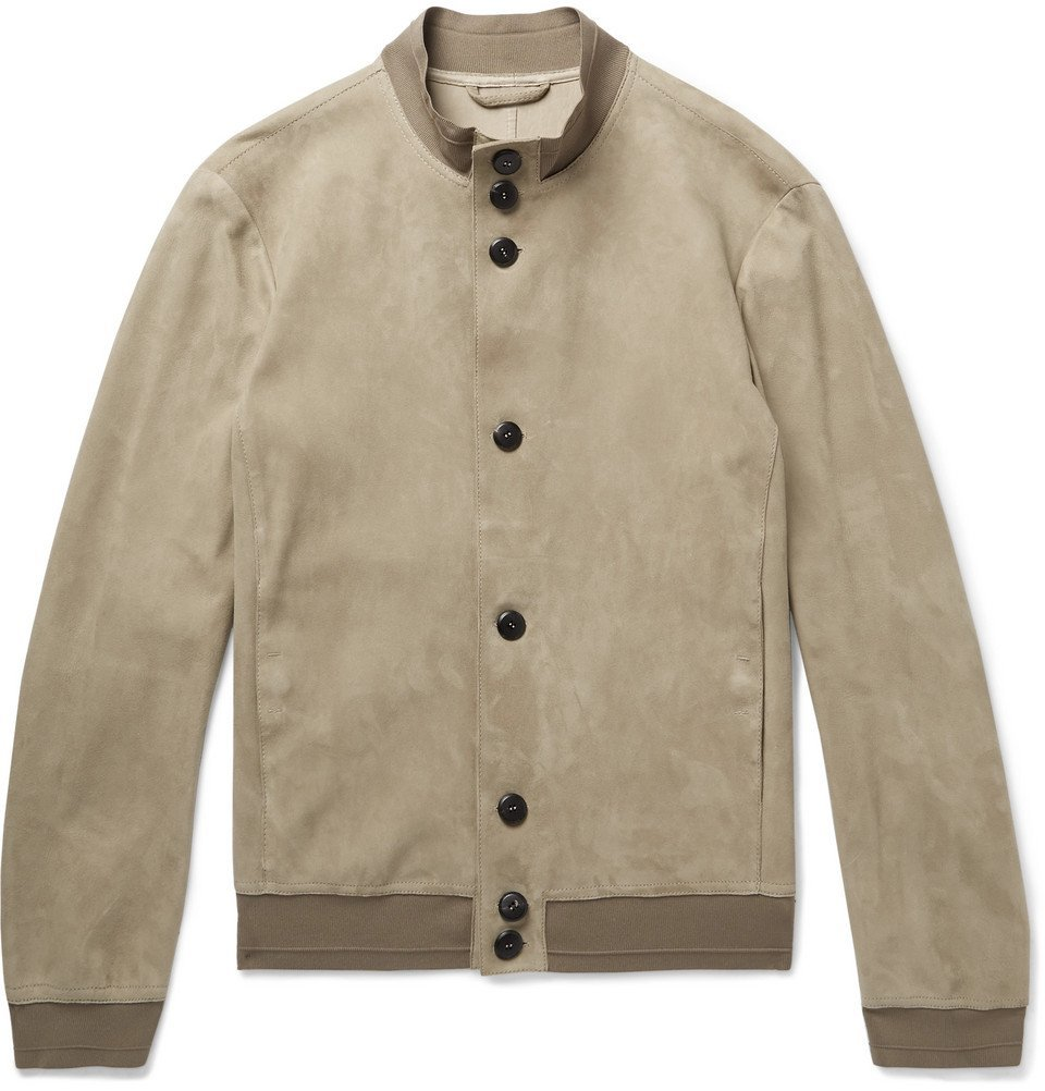 Giorgio Armani - Unlined Suede Jacket - Men - Beige
