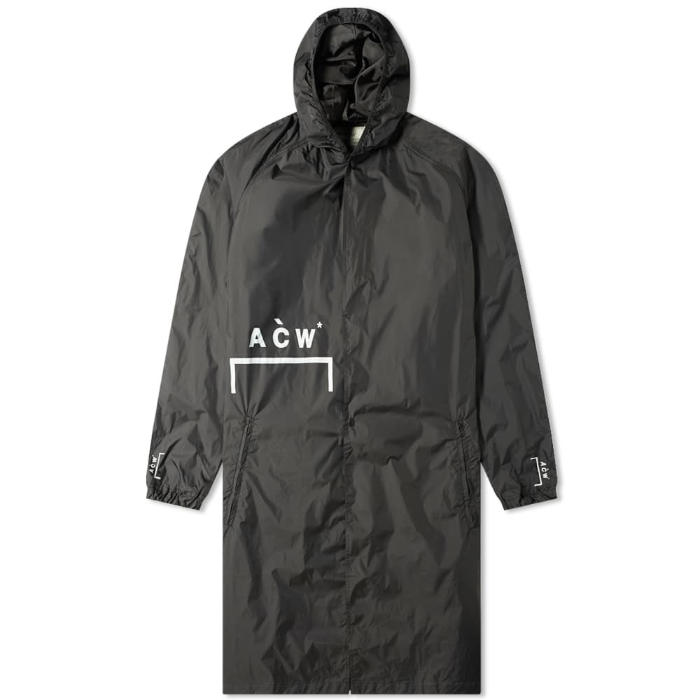 Photo: A-COLDWALL* Nylon Logo Storm Coat Black