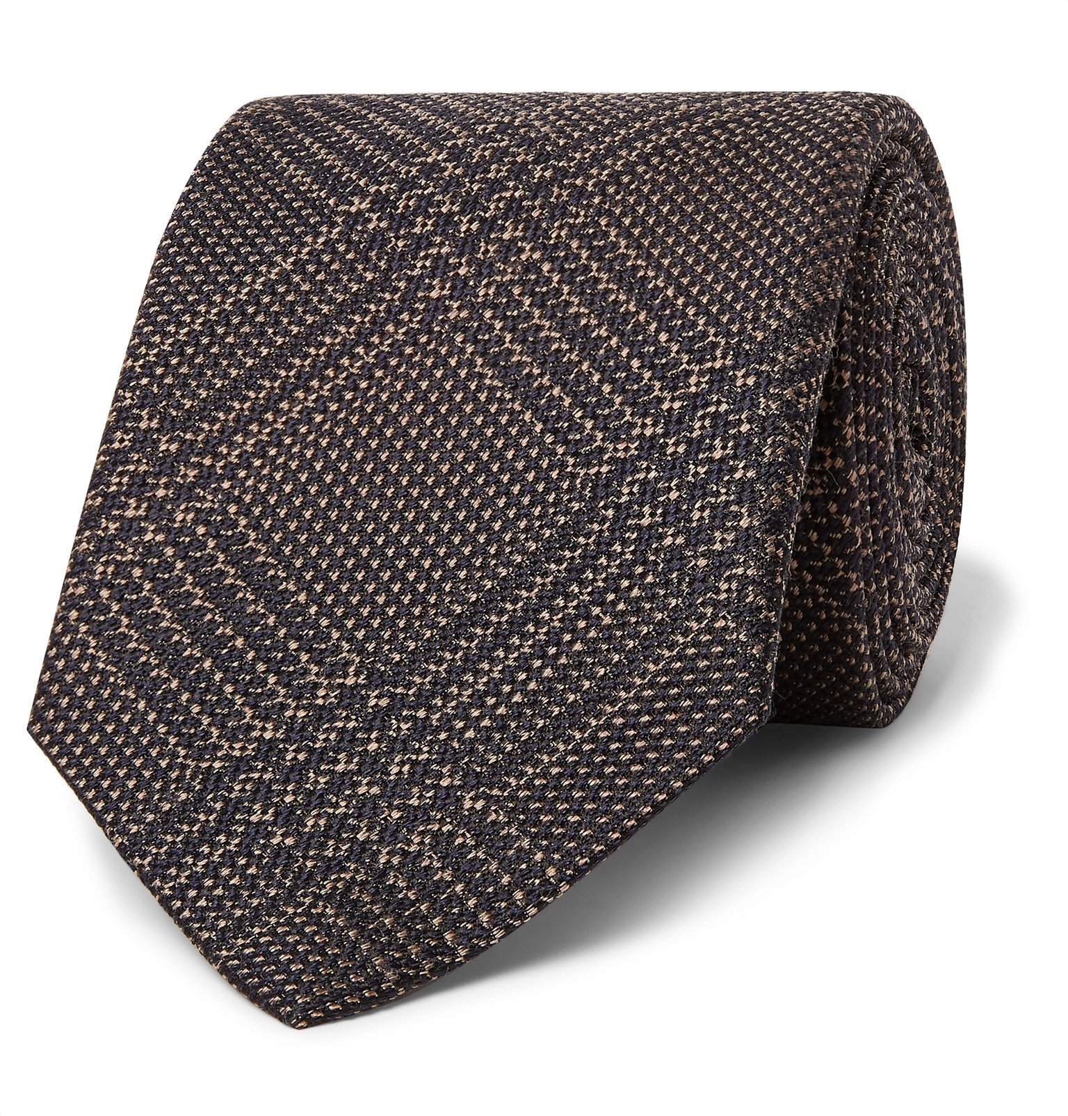 Photo: Brioni - 8cm Prince of Wales Checked Silk and Virgin Wool-Blend Tie - Brown