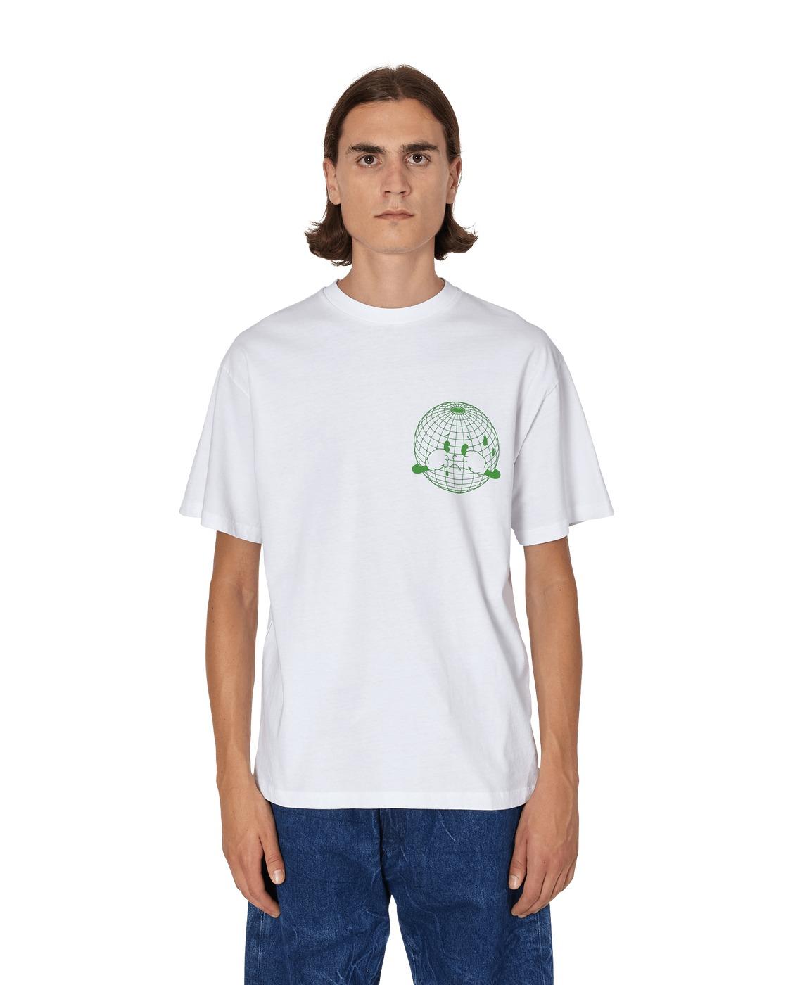 Aries Sad Planet T Shirt White