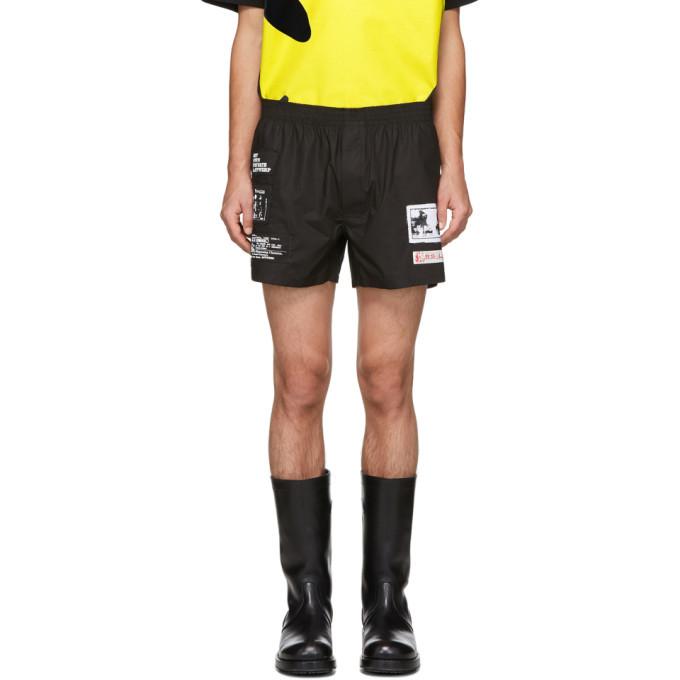 Raf Simons Black Patch Boxer Shorts