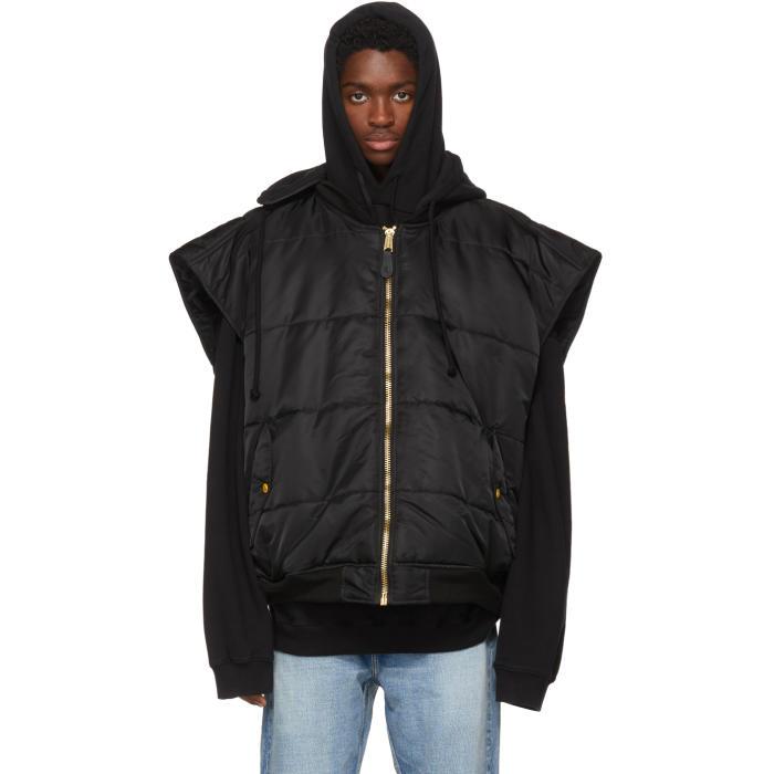 Photo: Vetements Black Alpha Industries Edition Oversized Hooded Bomber Vest