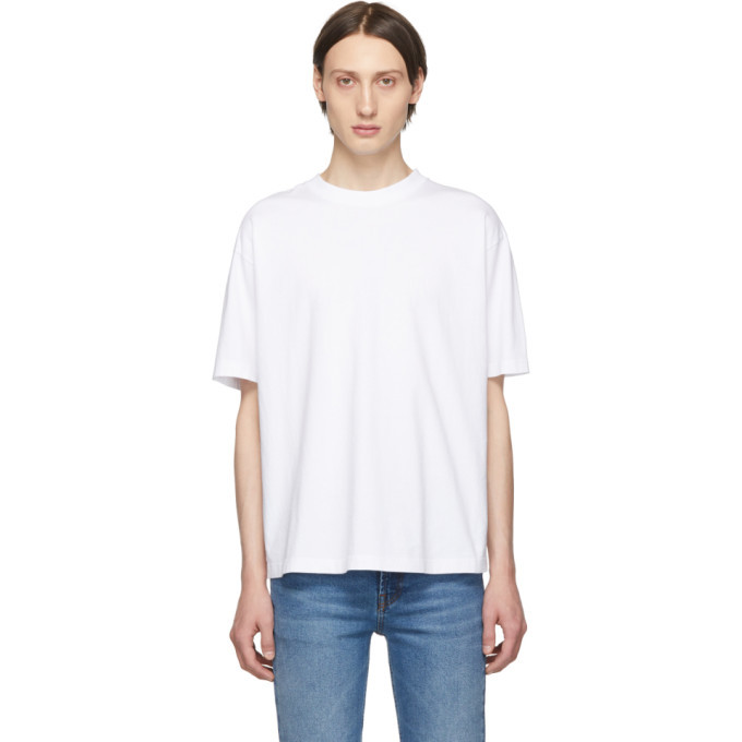Photo: Balenciaga White Logo T-Shirt