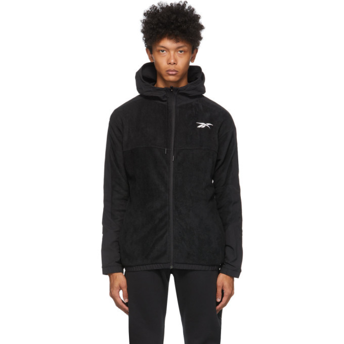 Photo: Reebok Classics Black Fleece Zip Track Jacket