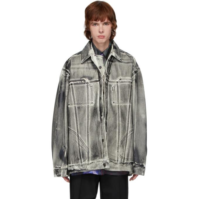Photo: Ottolinger Black Oversized Denim Painted Jacket