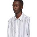 3.1 Phillip Lim White and Black Argyle Patchwork Shirt