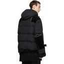 Sacai Black Combo Fabric Down Jacket