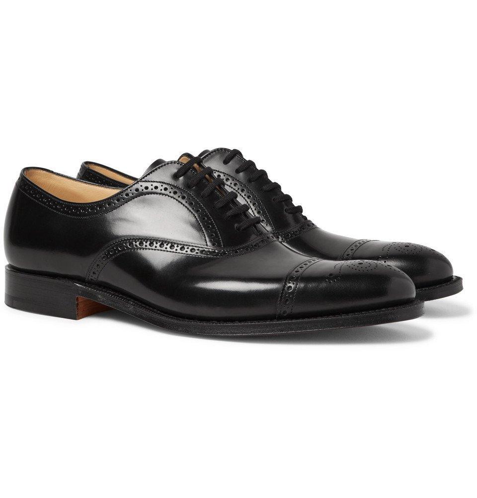 Photo: Church's - Toronto Cap-Toe Leather Oxford Brogues - Men - Black