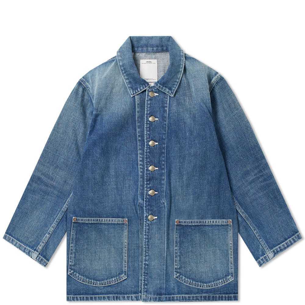 Photo: Visvim Short Sleeve Bucky Coverall Shirt Blue