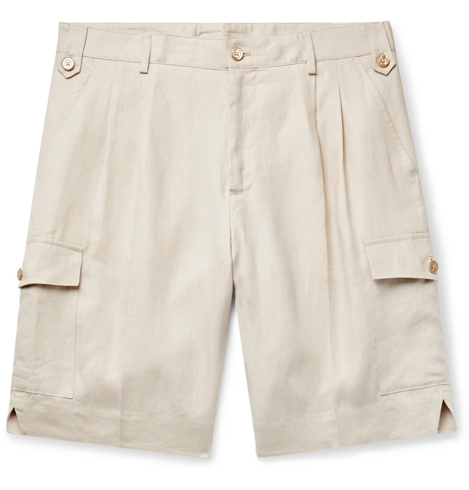Photo: Dolce & Gabbana - Linen Shorts - Neutrals