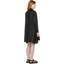Sacai Black Poplin Zip Dress