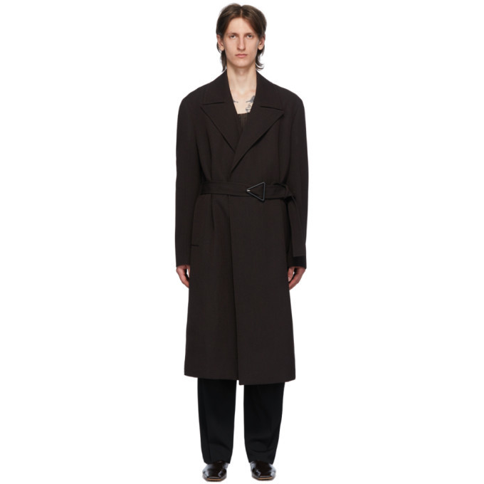 Photo: Bottega Veneta Brown Wool Drill Coat
