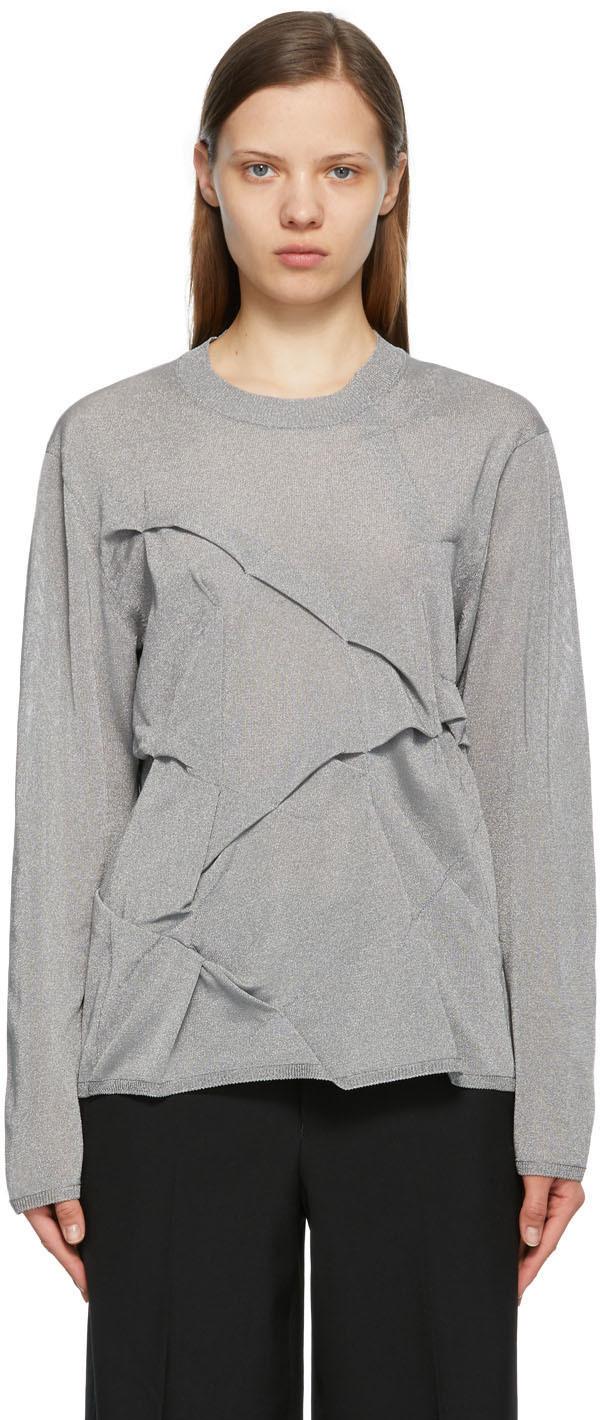 Photo: Comme des Garçons Homme Plus Silver Metallic Sweater