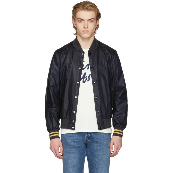 Photo: Maison Kitsuné SSENSE Exclusive Black Teddy Bomber Jacket