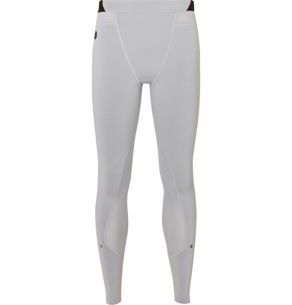 Photo: Under Armour - Rush Stretch-Jersey Leggings - Gray