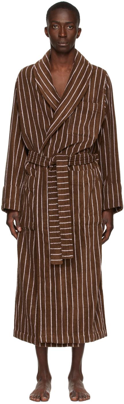 Photo: Tekla Brown & Pink Striped Bath Robe