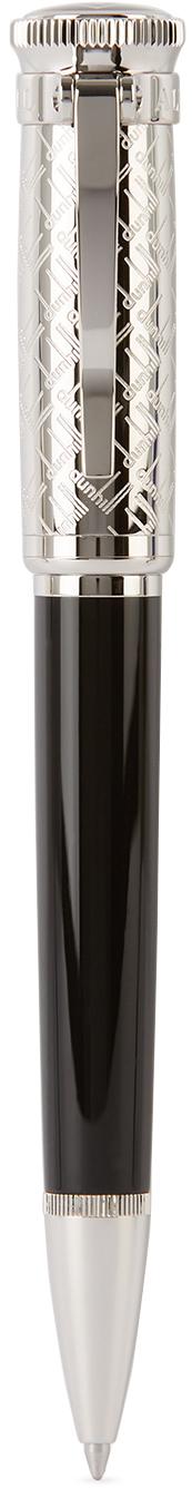 Dunhill Silver & Black Sentryman Signature Ballpoint Pen
