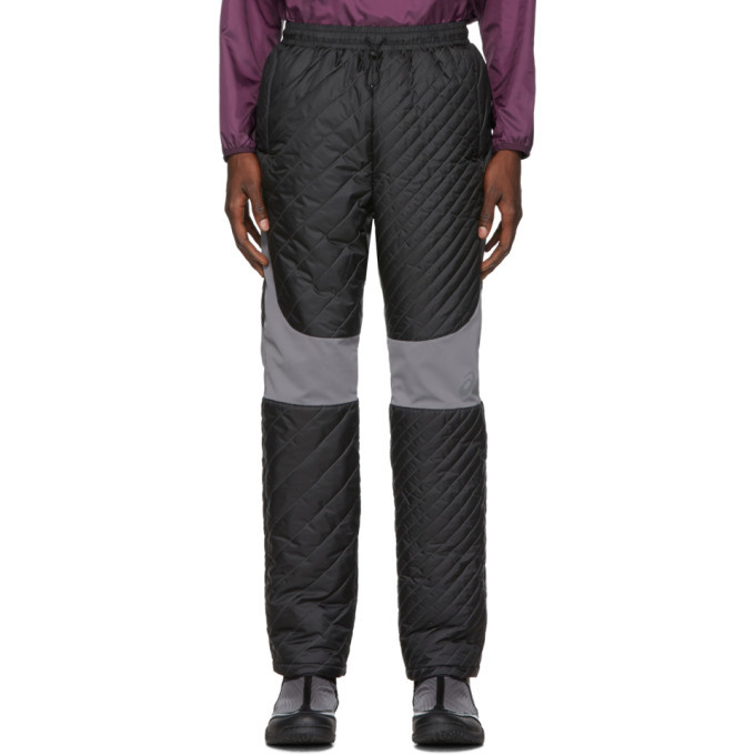 Photo: Kiko Kostadinov Black Asics Edition Insulated Lounge Pants