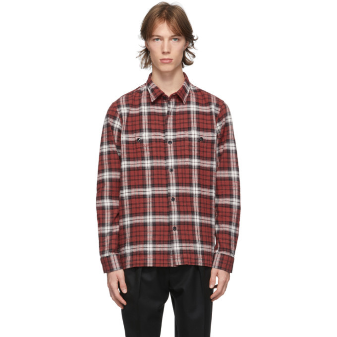 Photo: Officine Generale Red Check Barry Shirt