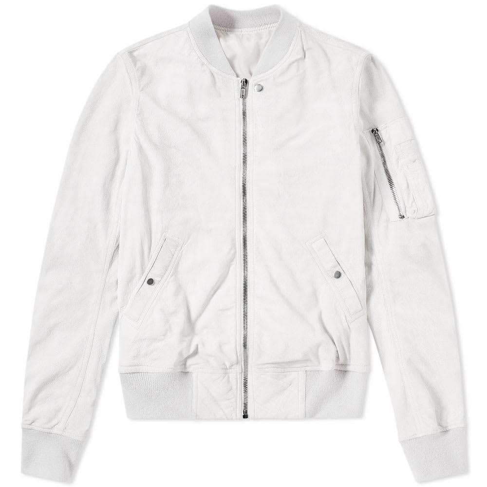 Photo: Rick Owens Distressed Suede Bomber Jacket