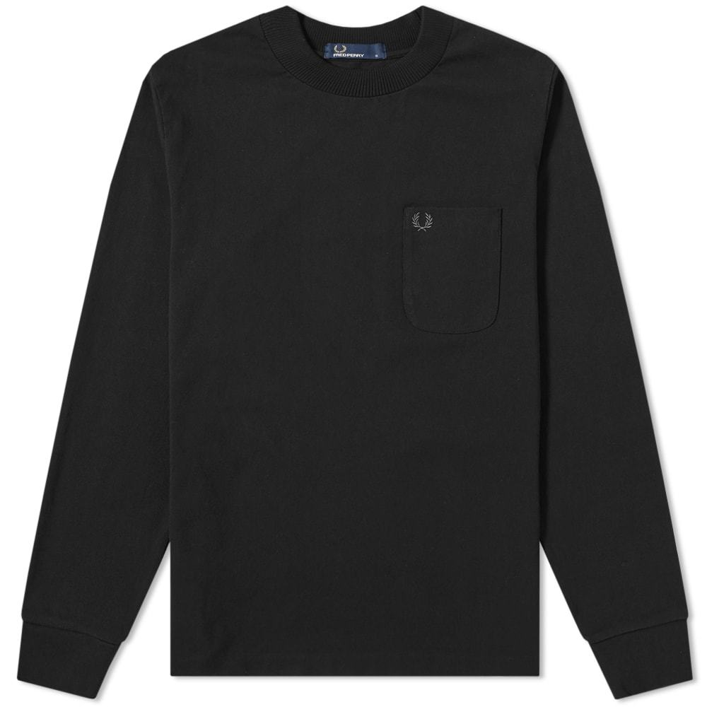 Photo: Fred Perry Long Sleeve High Neck Tee Black
