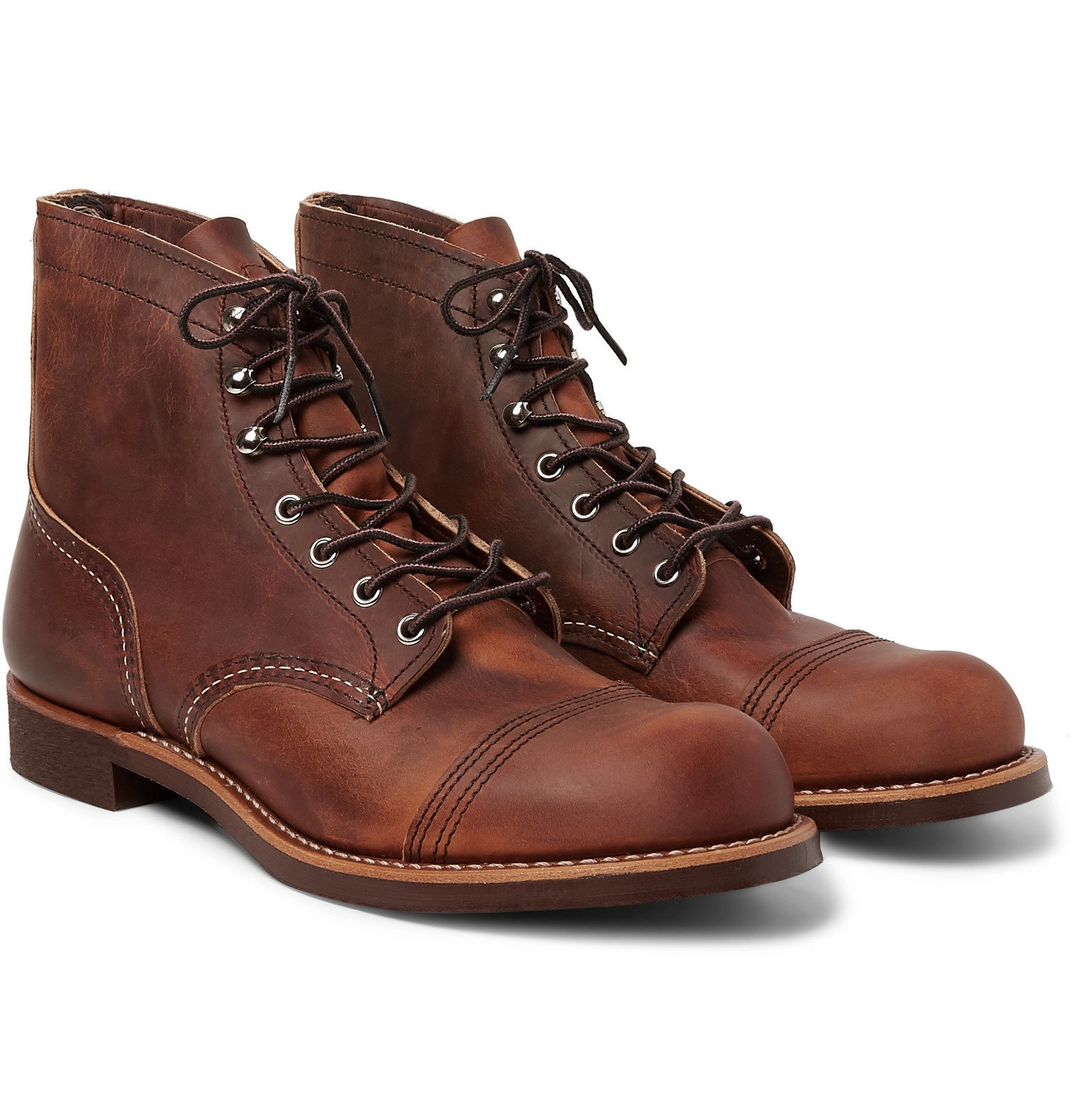 Photo: Red Wing Shoes - 8085 Iron Ranger Burnished-Leather Boots - Brown