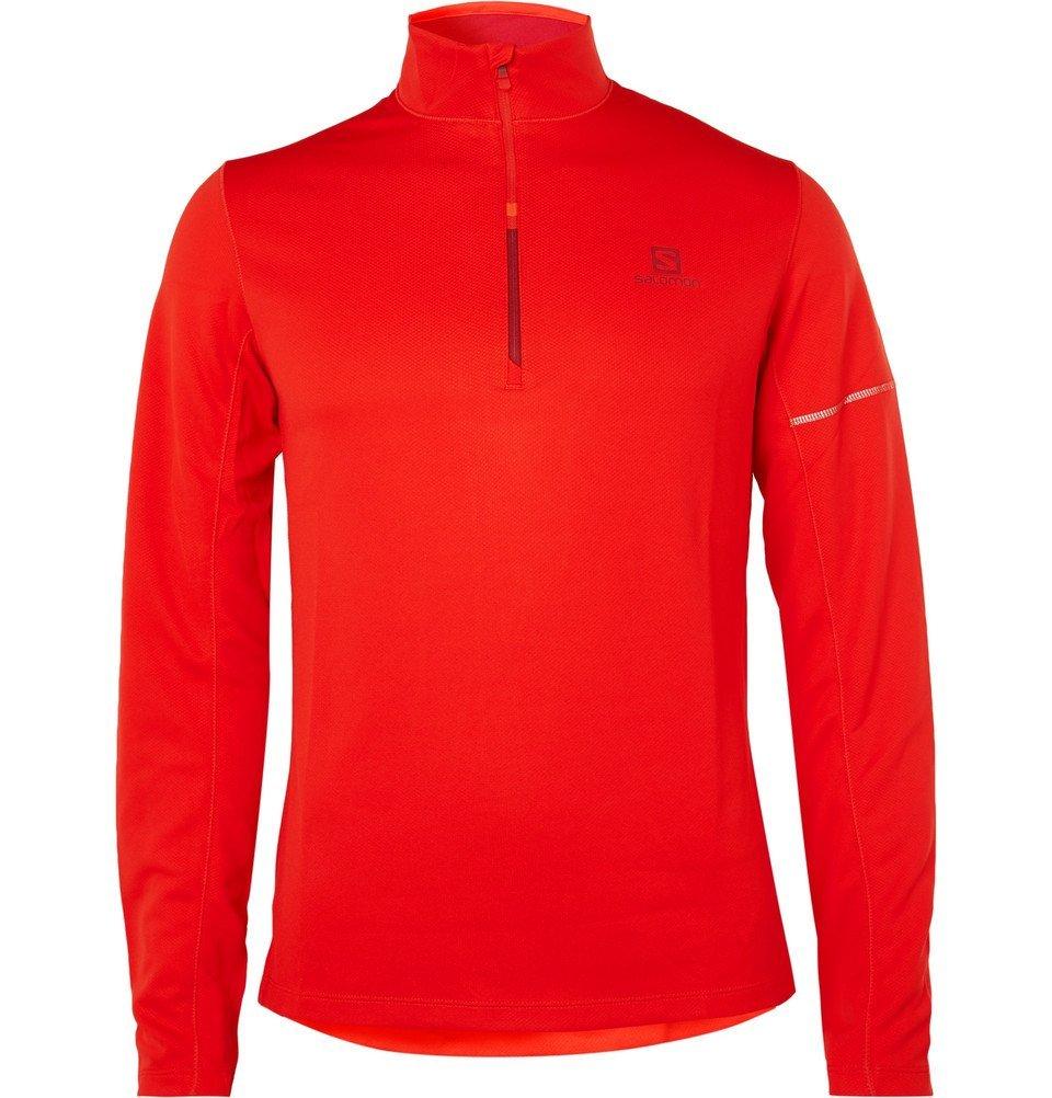 Photo: Salomon - Agile Jersey Half-Zip Top - Men - Red