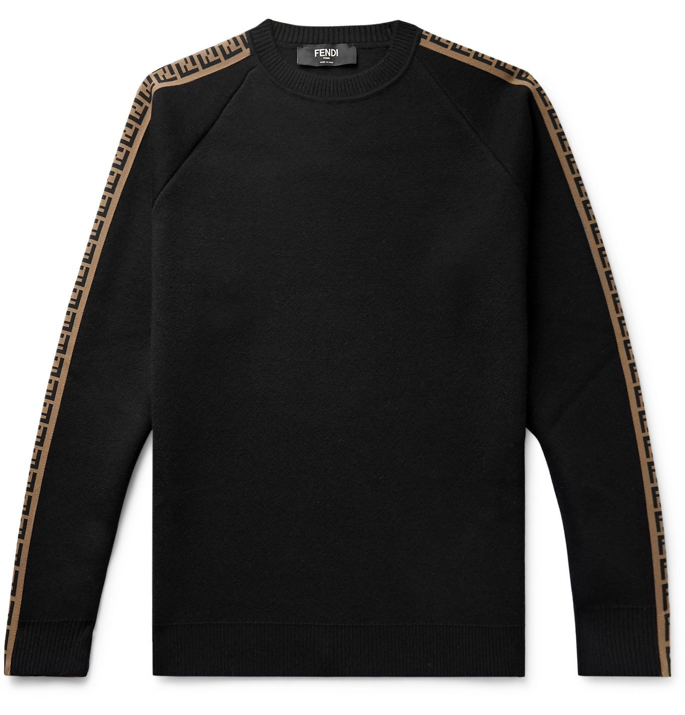 Photo: Fendi - Logo-Intarsia Wool Sweater - Black