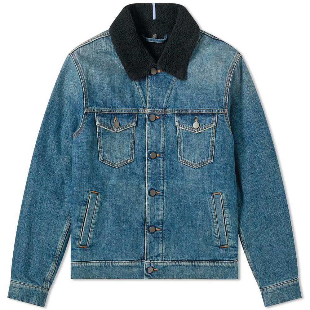 MCQ Teddy Lined Denim Jacket