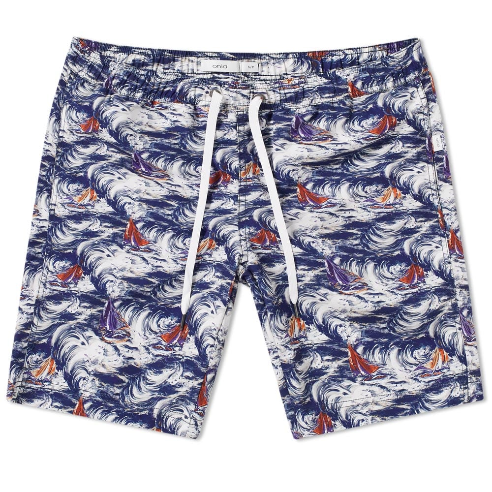 "Photo: Onia Charles 7"" Mediterranean Swim Short Blue"