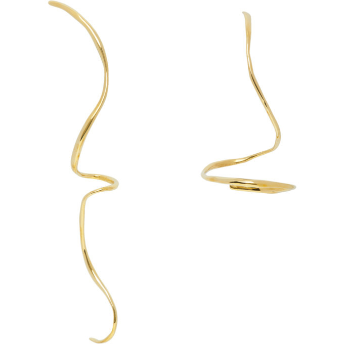 Photo: Faris Gold Boa Earrings